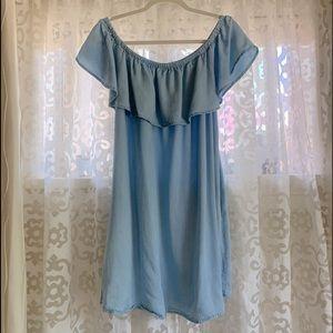 Cold shoulder Summer dress. Soft fabric.